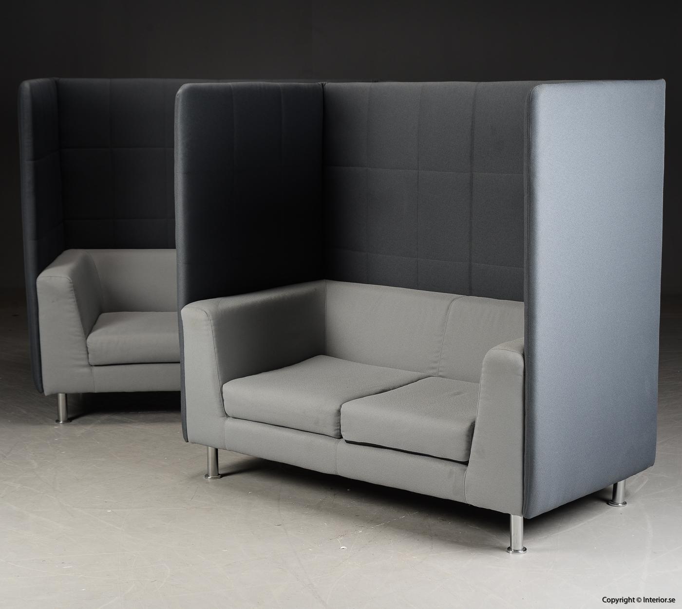 Soffa med högt ryggstöd, Holmris Free Air 2 High Straight modern design