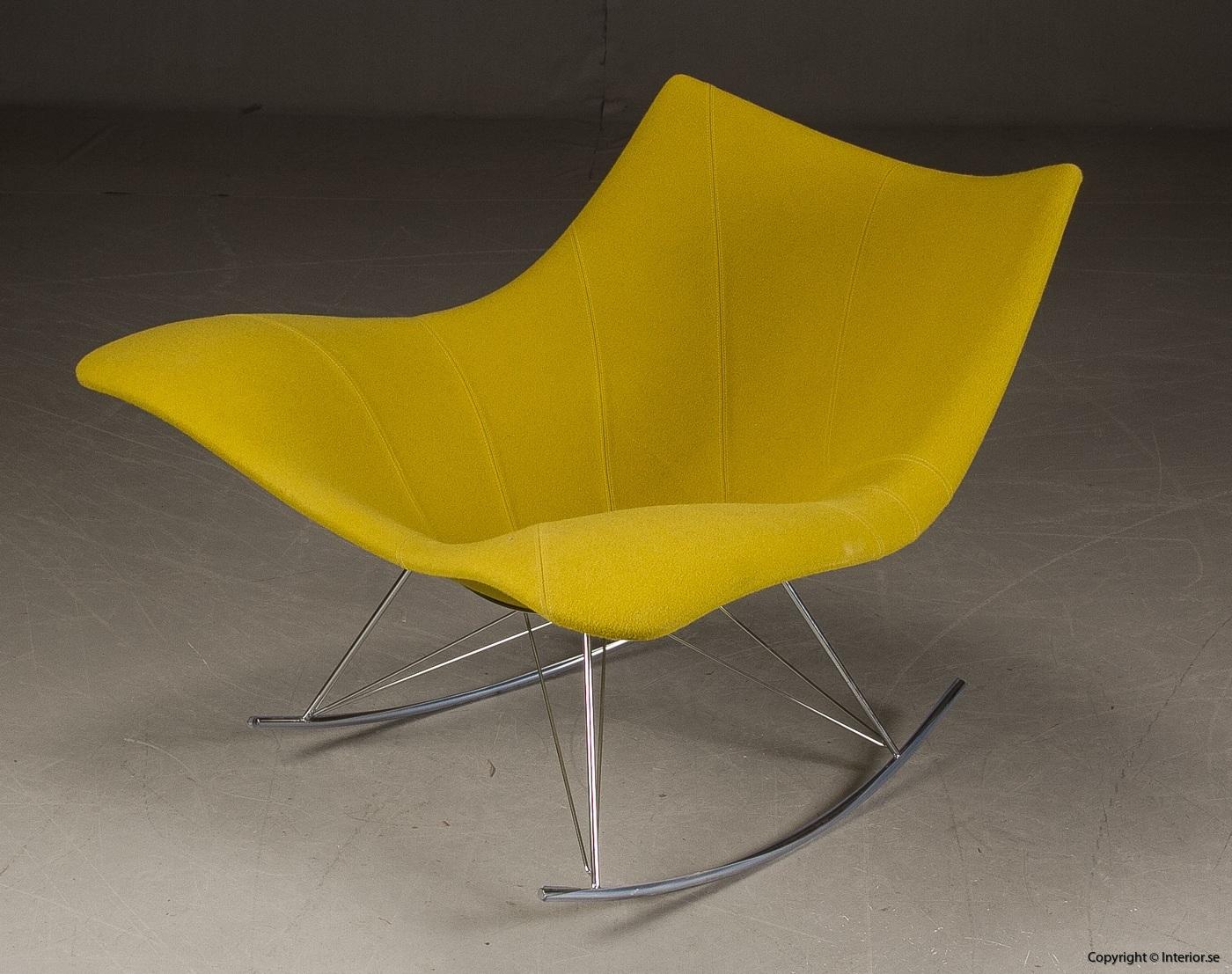 Gungstol fåtölj rocking chair, Fredericia Furniture Stingray - Klädd