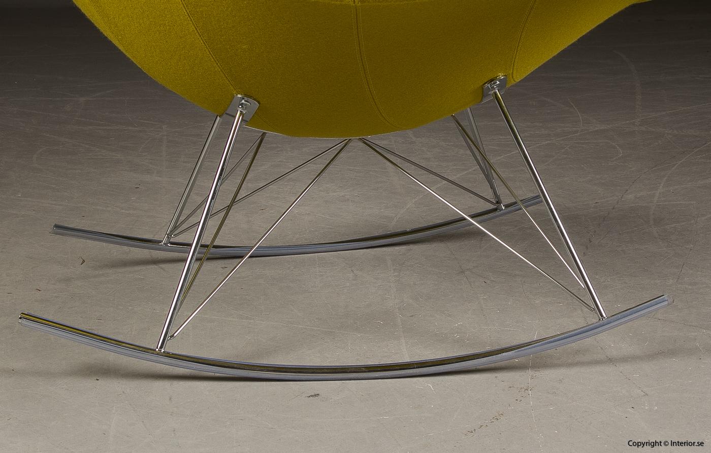 Gungstol fåtölj rocking chair, Fredericia Furniture Stingray - Klädd 7