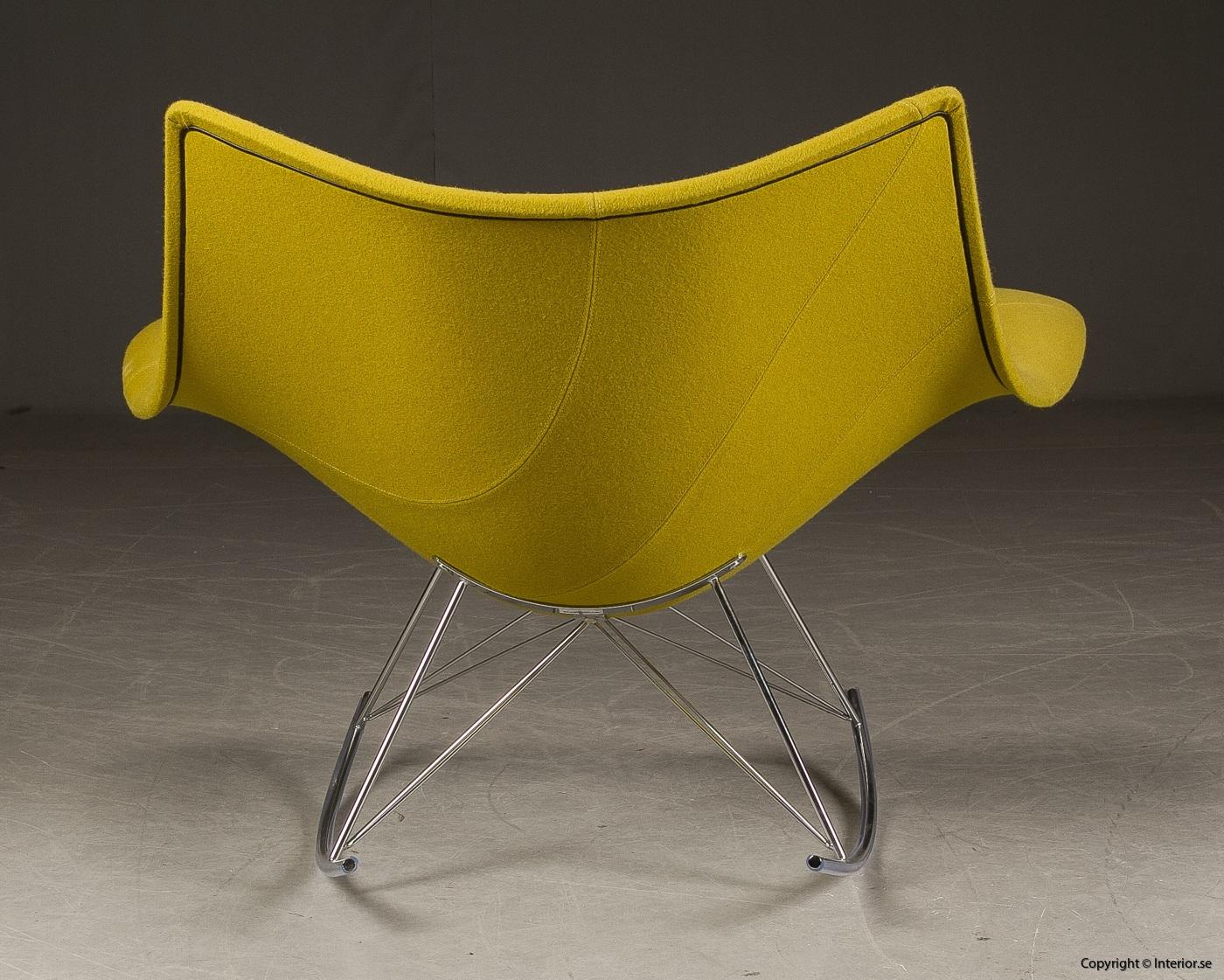 Gungstol fåtölj rocking chair, Fredericia Furniture Stingray - Klädd 6