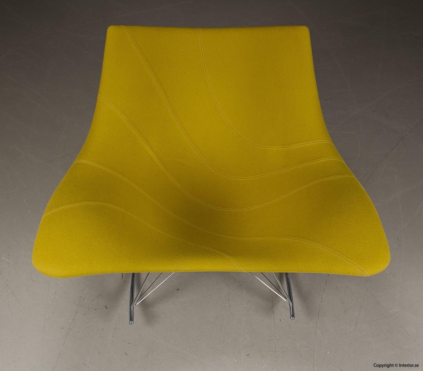 Gungstol fåtölj rocking chair, Fredericia Furniture Stingray - Klädd 4