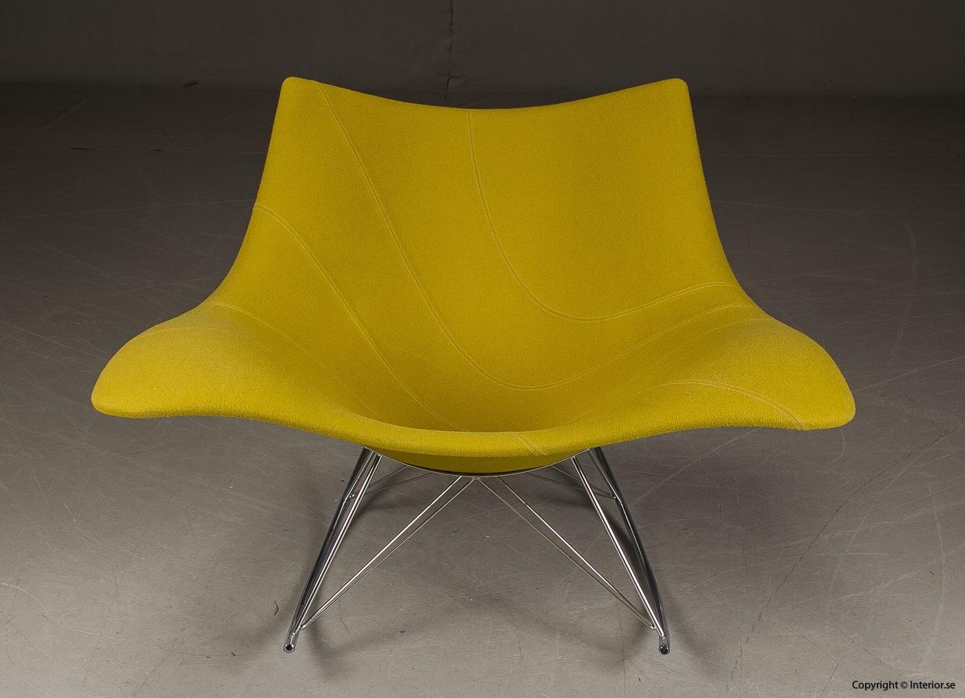 Gungstol fåtölj rocking chair, Fredericia Furniture Stingray - Klädd 3