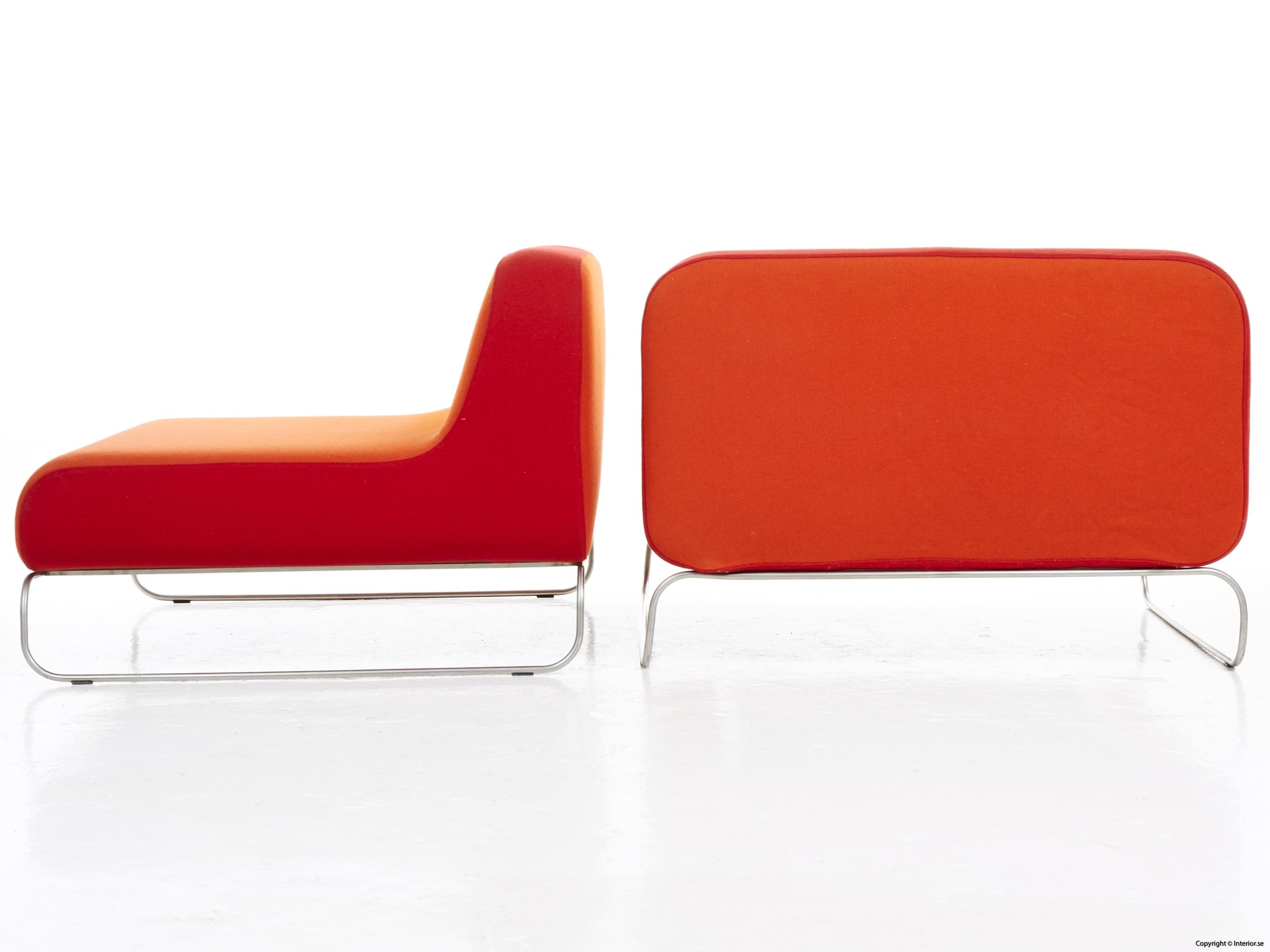Låga loungefåtöljer, röd  orange snygga fåtöljer 5
