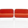 Loungefåtöljer, röd / orange