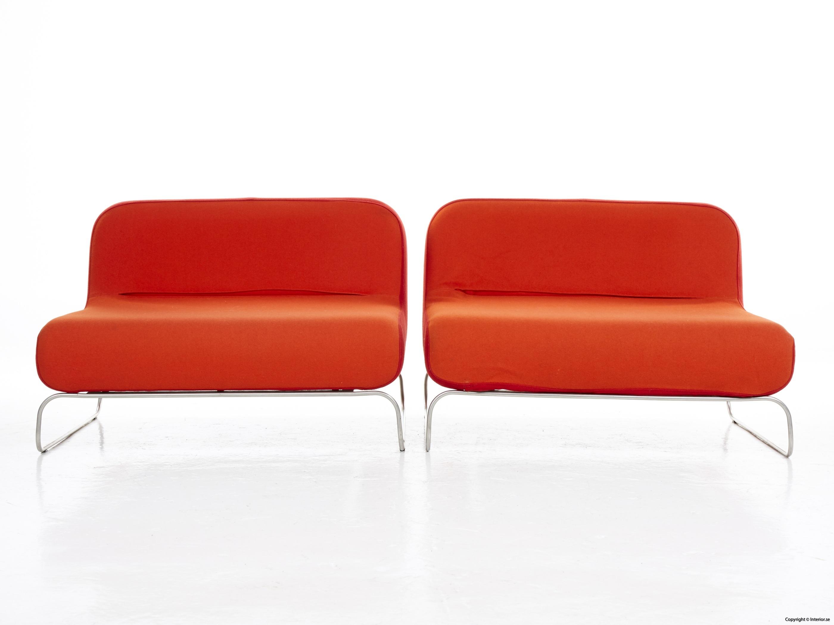 Låga loungefåtöljer, röd  orange snygga fåtöljer 4