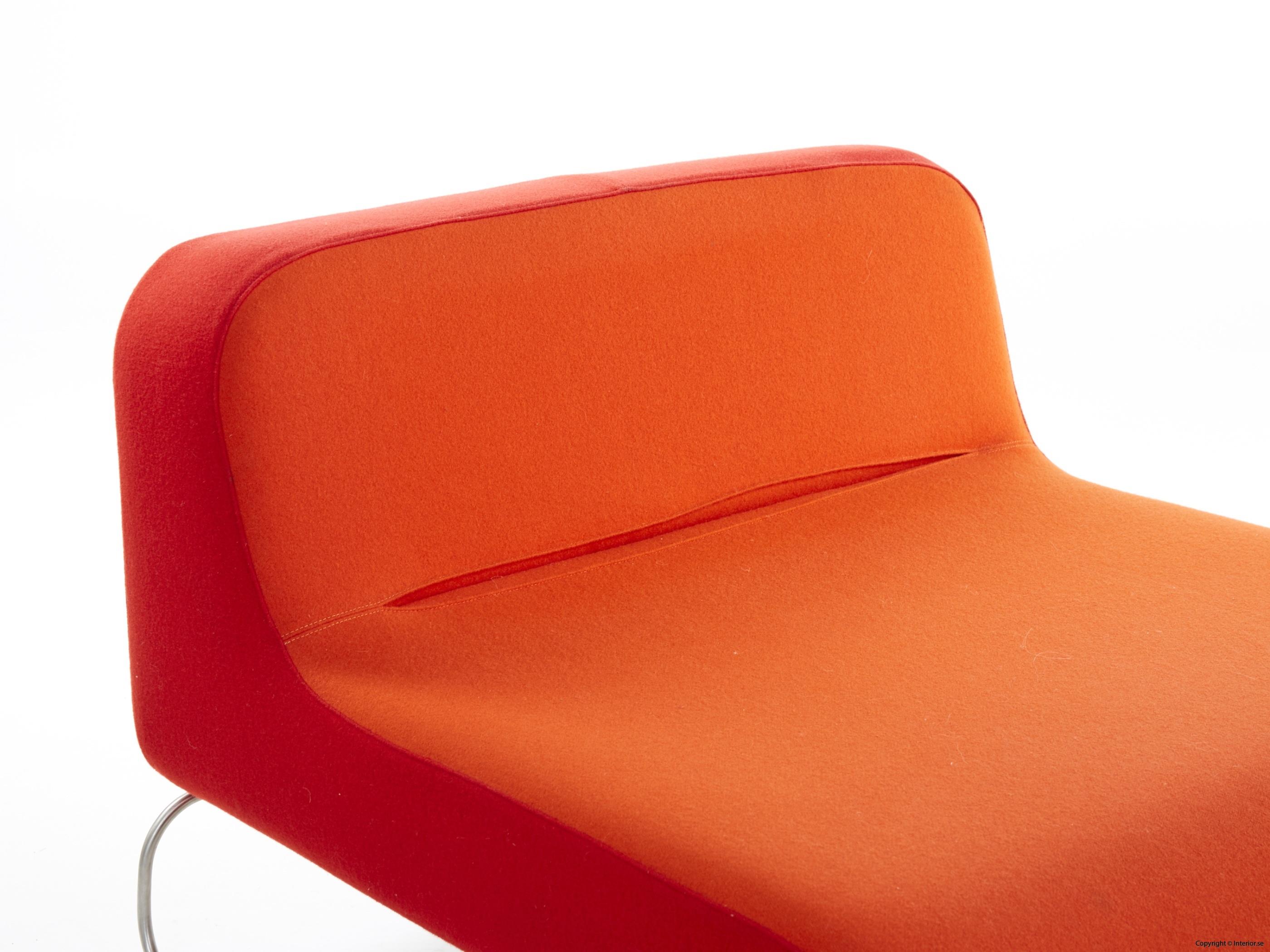 Låga loungefåtöljer, röd  orange snygga fåtöljer 3