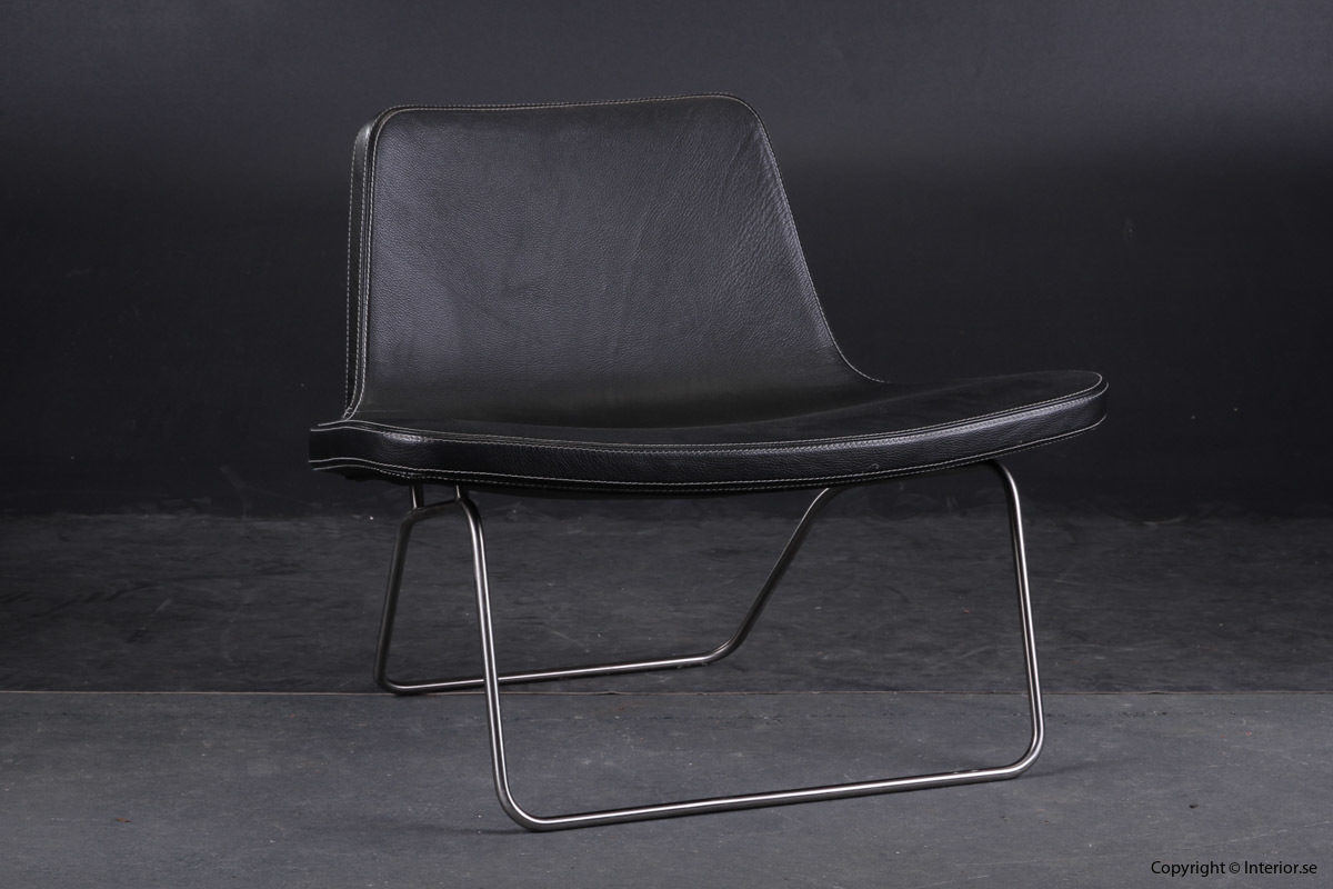 Fåtölj Sessel Armchair HAY Ray Lounge Chair - Läder Leather Leder - Jakob Wagner