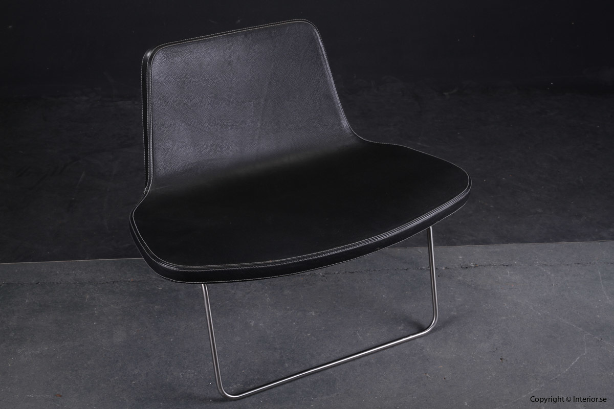 Fåtölj Sessel Armchair HAY Ray Lounge Chair - Läder Leather Leder - Jakob Wagner 2