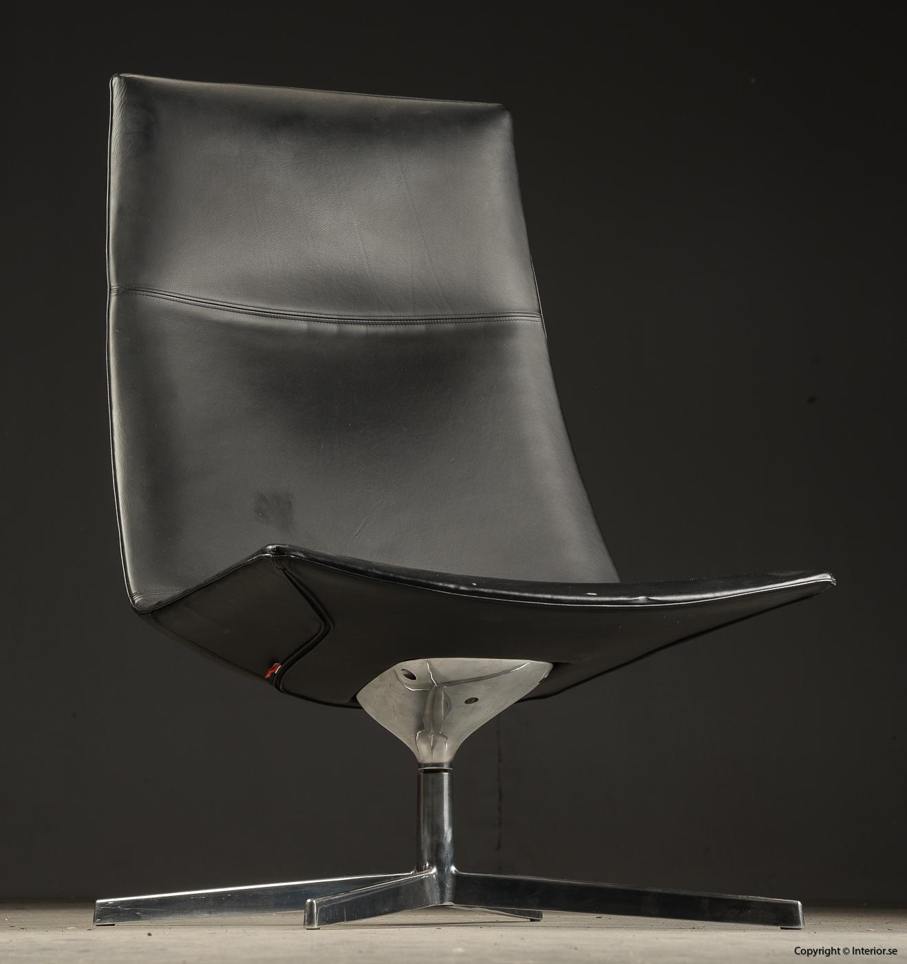 Loungefåtölj lounge chair Arper Catifa 70 läder - Lievore, Altherr, Molina