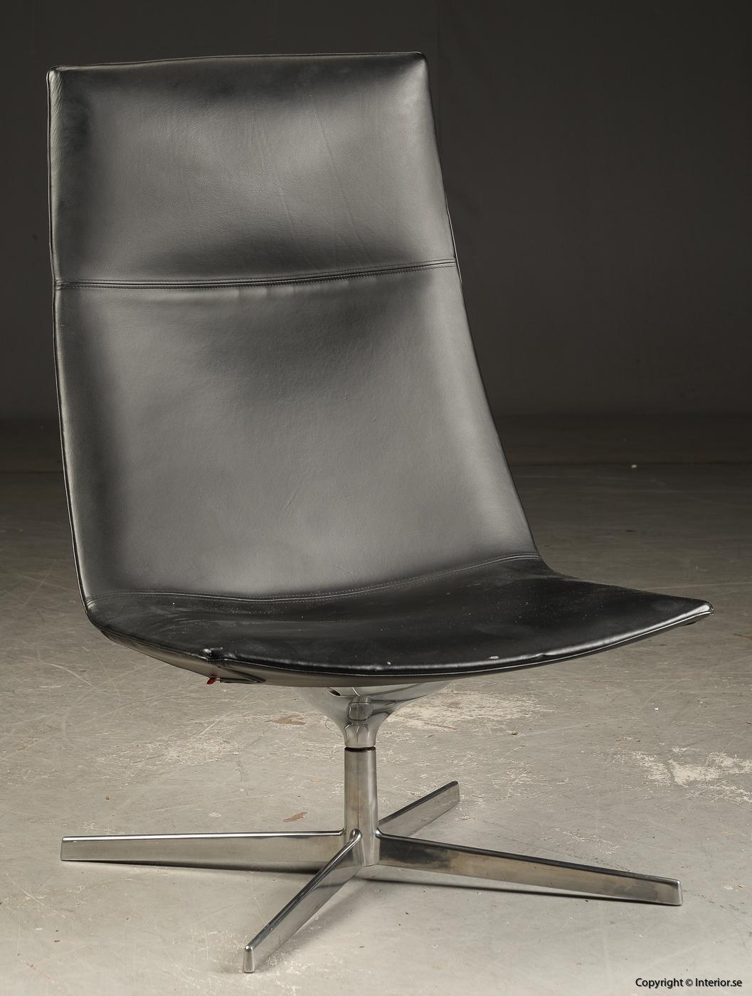 Loungefåtölj lounge chair Arper Catifa 70 läder - Lievore, Altherr, Molina  2