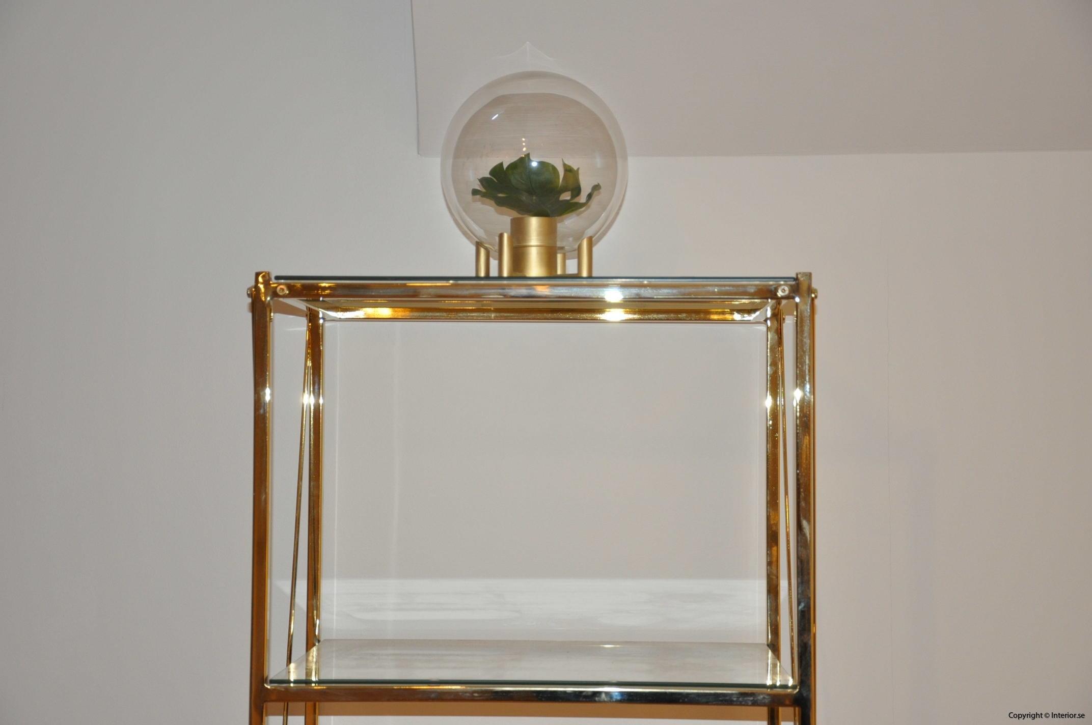 hylla glashylla mässing glas förvaring desingmöbler (2)