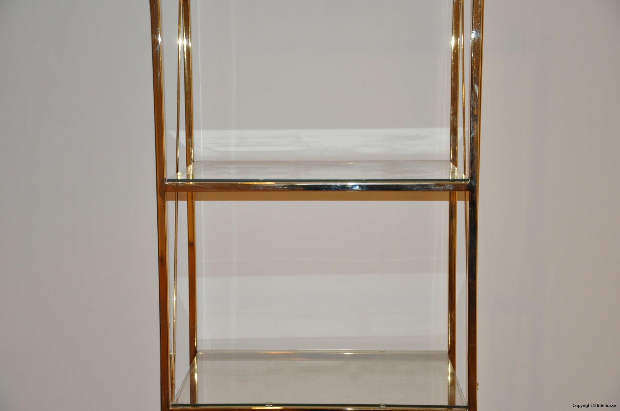 hylla glashylla mässing glas förvaring desingmöbler (3)
