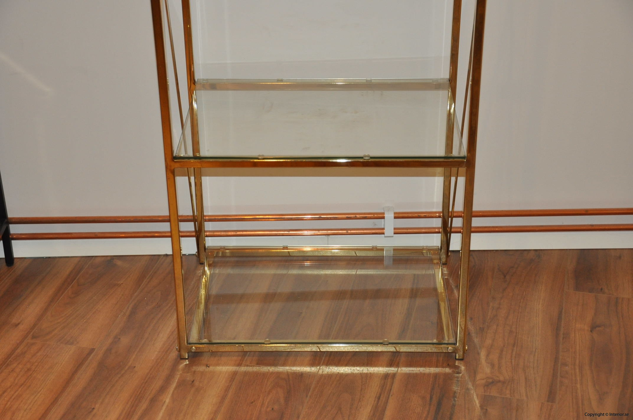 hylla glashylla mässing glas förvaring desingmöbler (4)