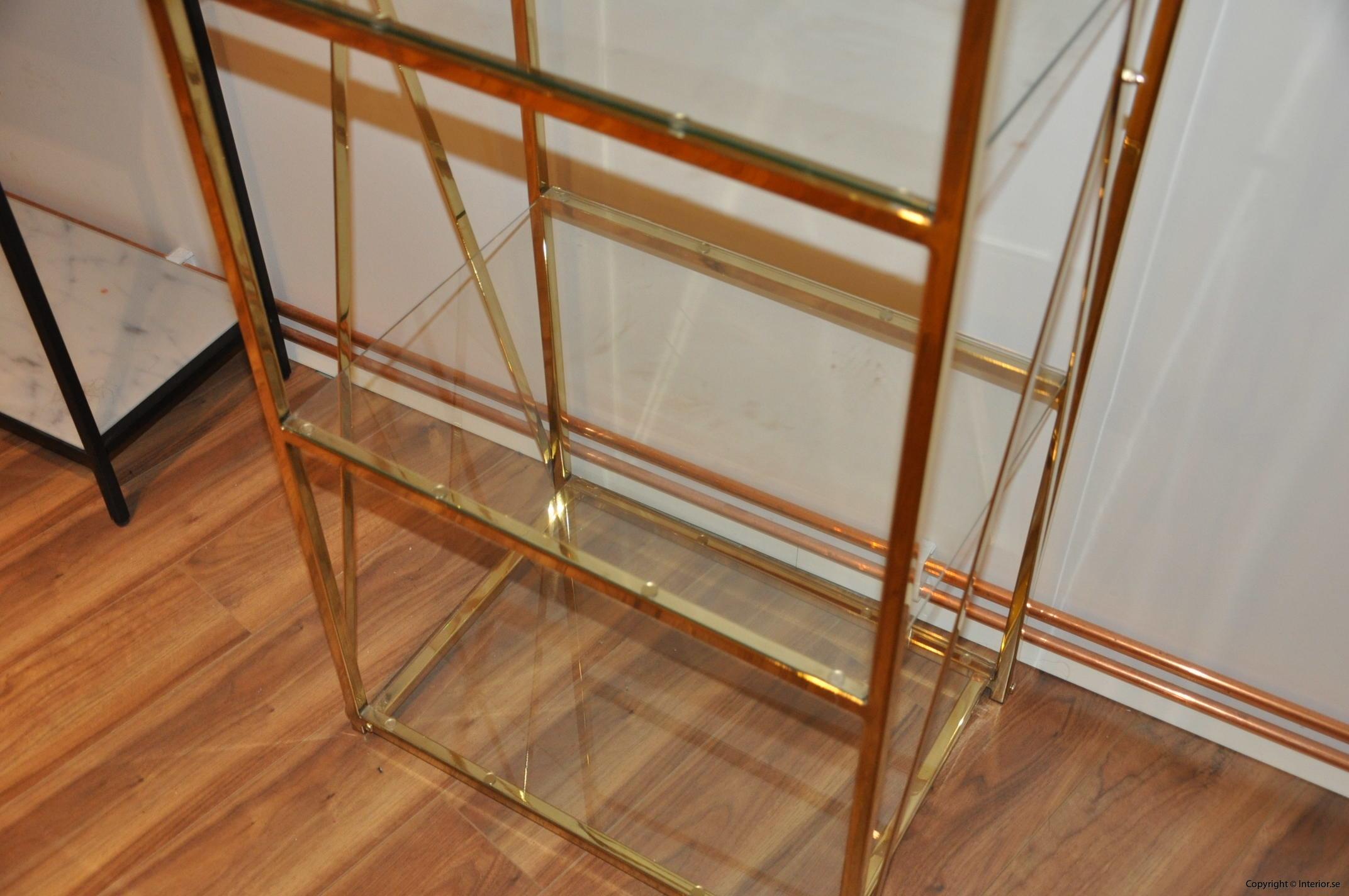 hylla glashylla mässing glas förvaring desingmöbler (6)