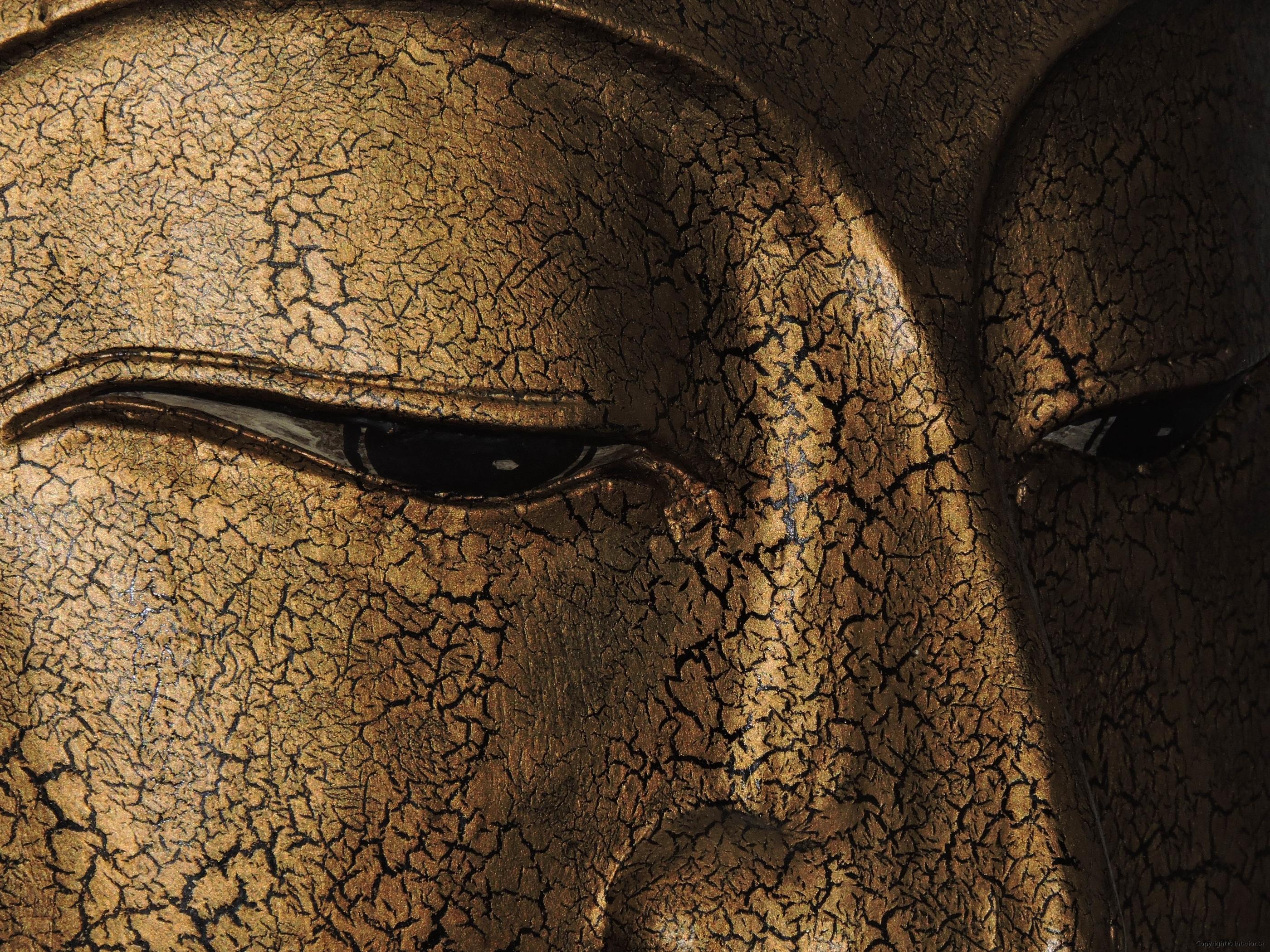 Stor Buddha mask från Thailand på stativ - 93 cm hög (2)