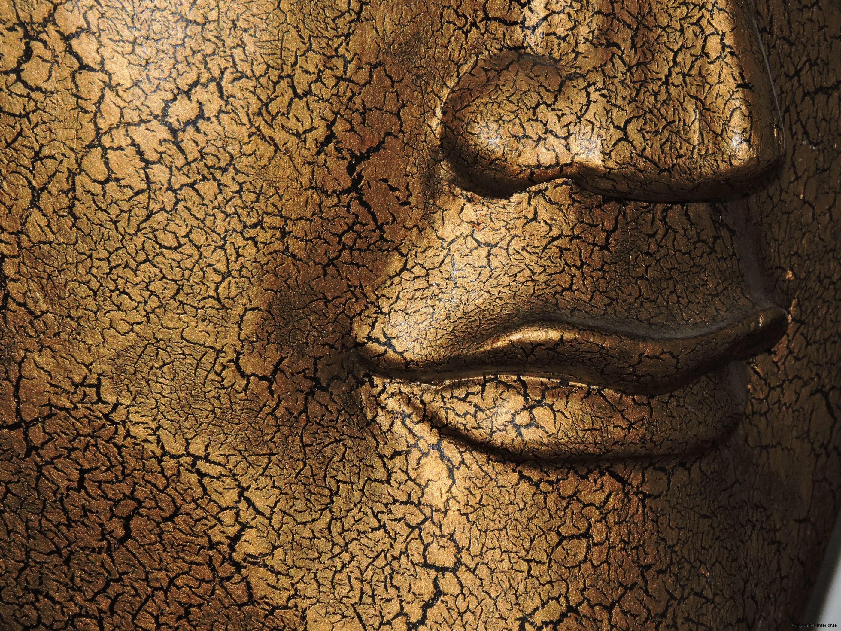 Stor Buddha mask från Thailand på stativ - 93 cm hög (5)