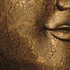 Buddha mask från Thailand på stativ - 93 cm