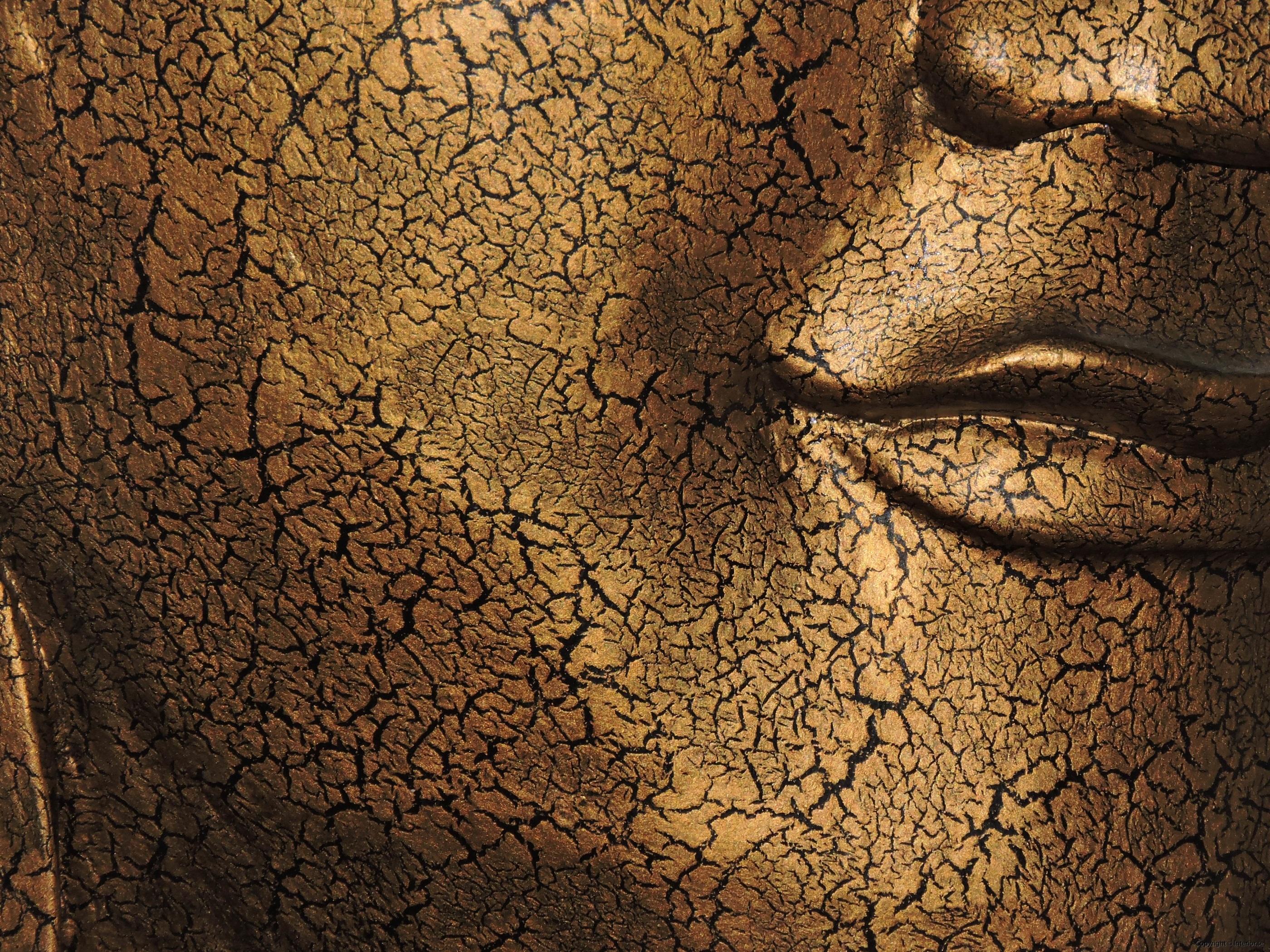 Stor Buddha mask från Thailand på stativ - 93 cm hög