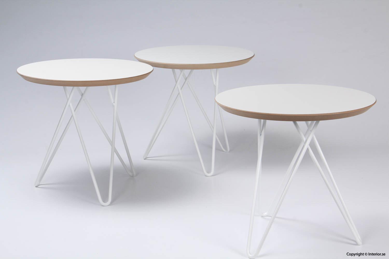 Soffbord sidobord - 45 cm i diameter begagnade designmöbler 2