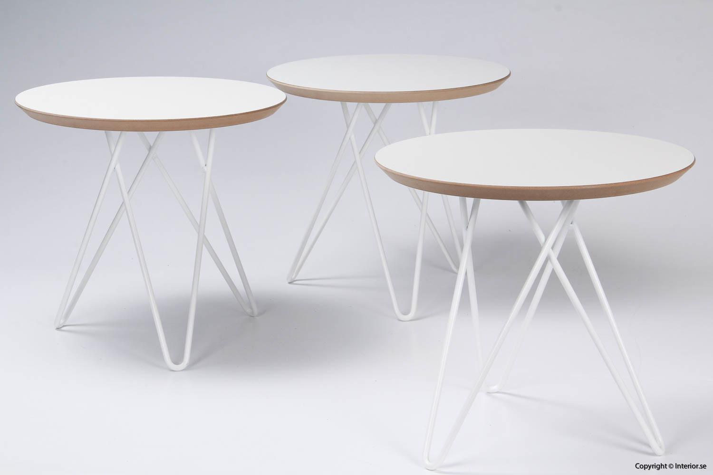 Soffbord sidobord - 45 cm i diameter begagnade designmöbler