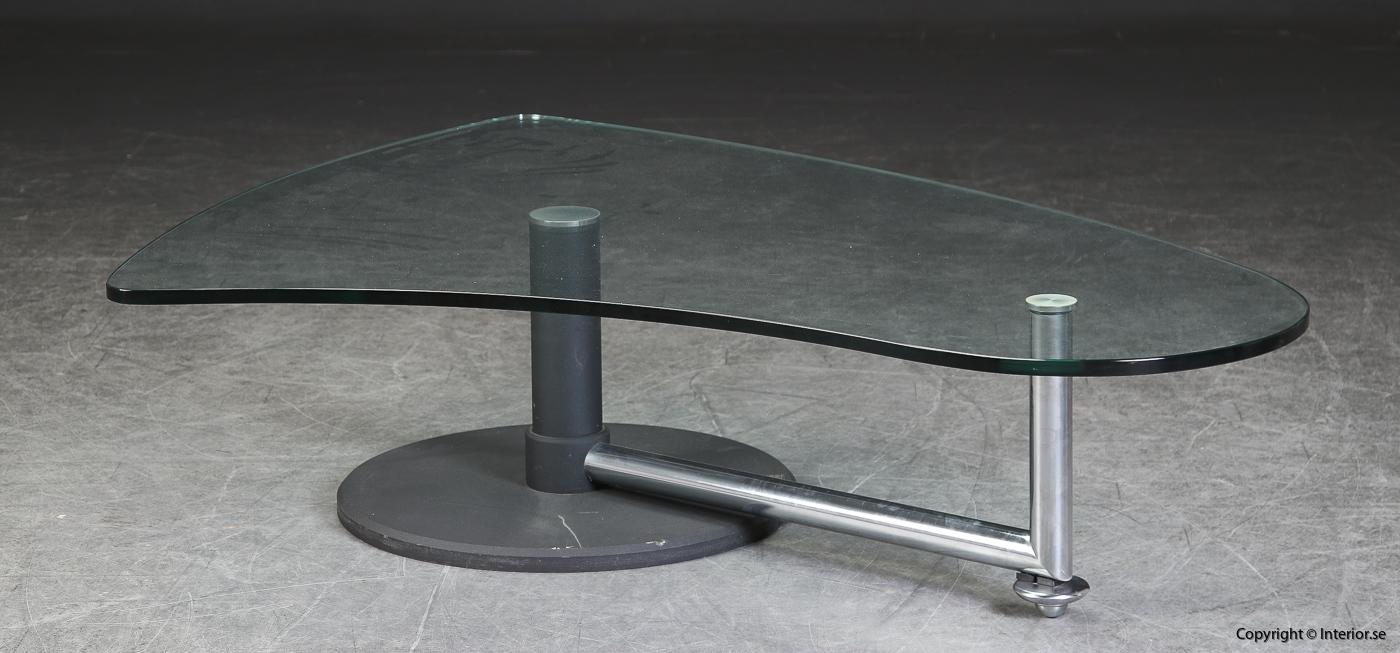 Soffbord med glasskiva coffee table Rolf Benz - 157 cm