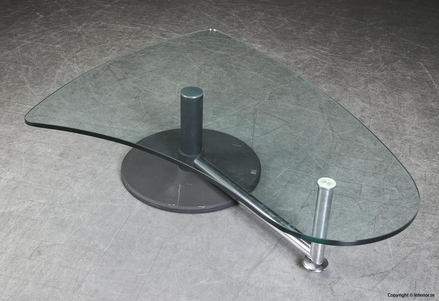 Soffbord med glasskiva coffee table Rolf Benz - 157 cm 2