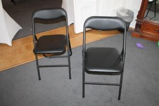 Fällstol / klappstol i konstläder - Stoppad sits + rygg