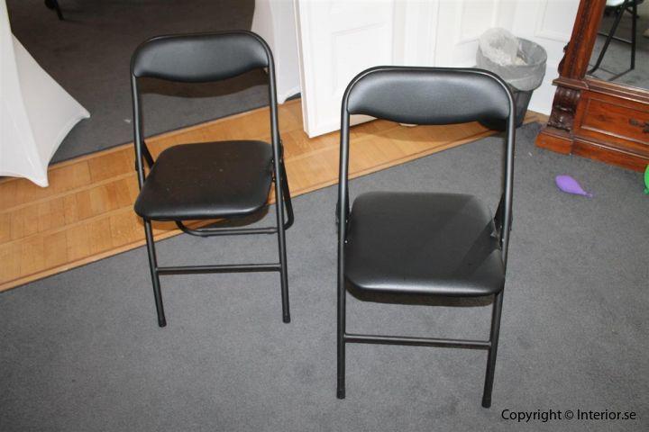 klappstol fällbara stol fällstolar med vagn begagnade