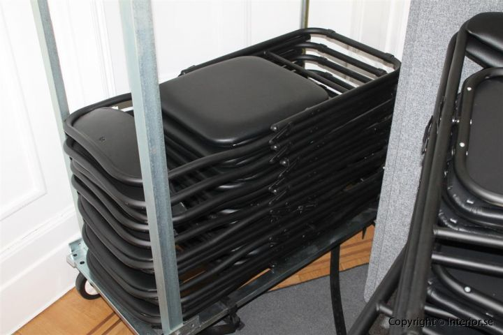 klappstol fällbara stol fällstolar med vagn begagnade (2)