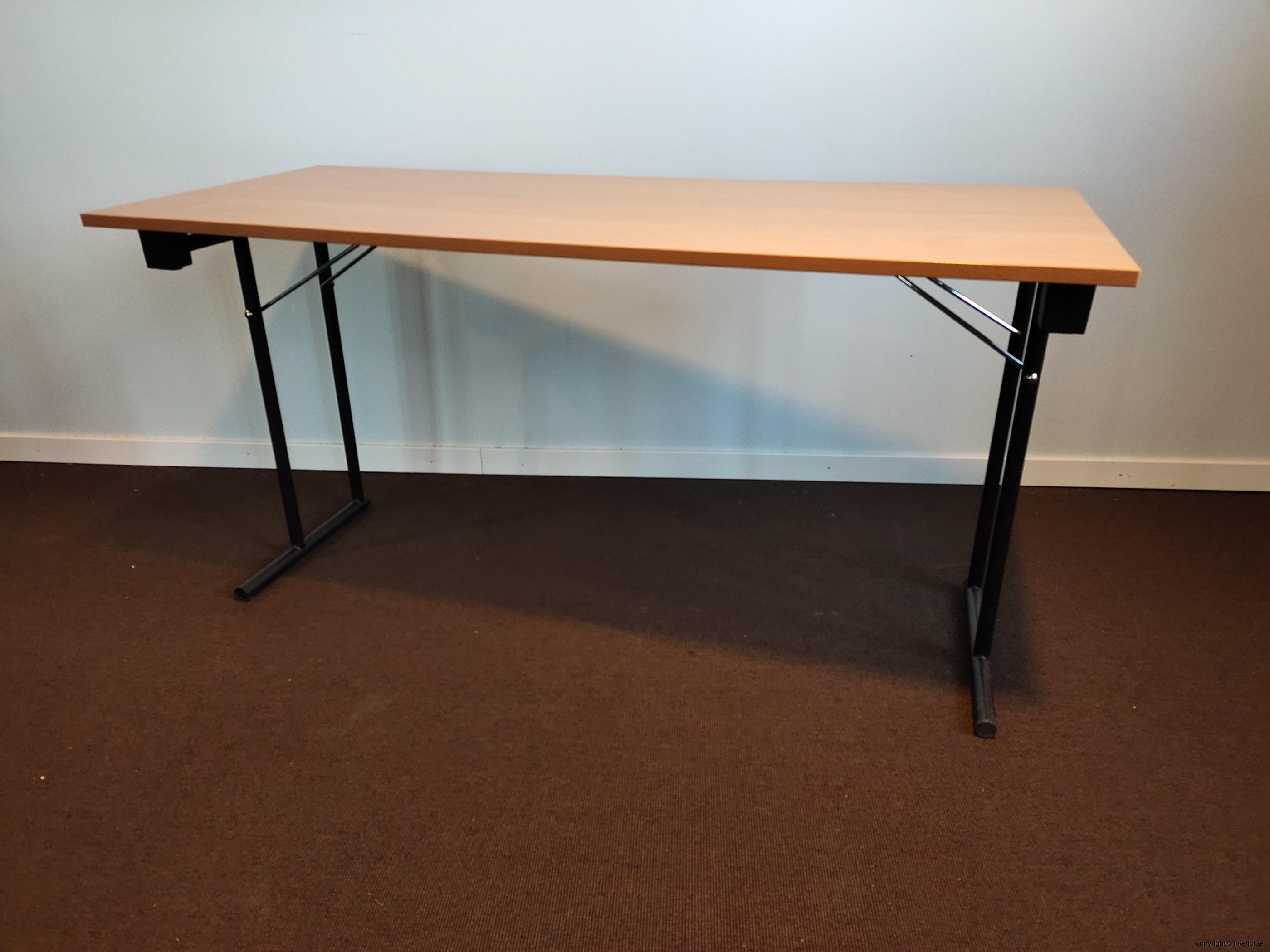 Fällbara bord  hopfällbara bord i bok - 140 x 60 cm