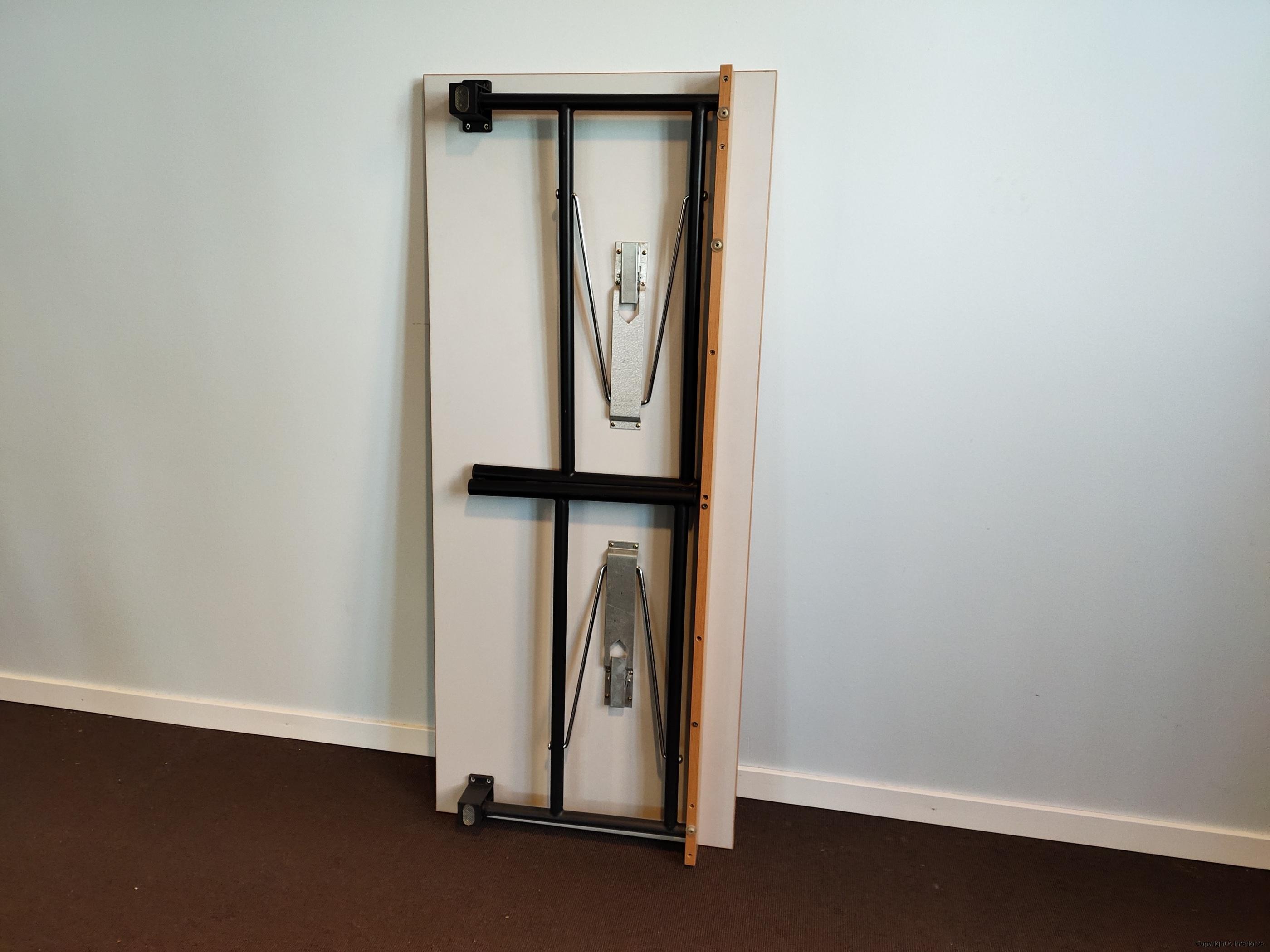 Fällbara bord  hopfällbara bord i bok - 140 x 60 cm (4)