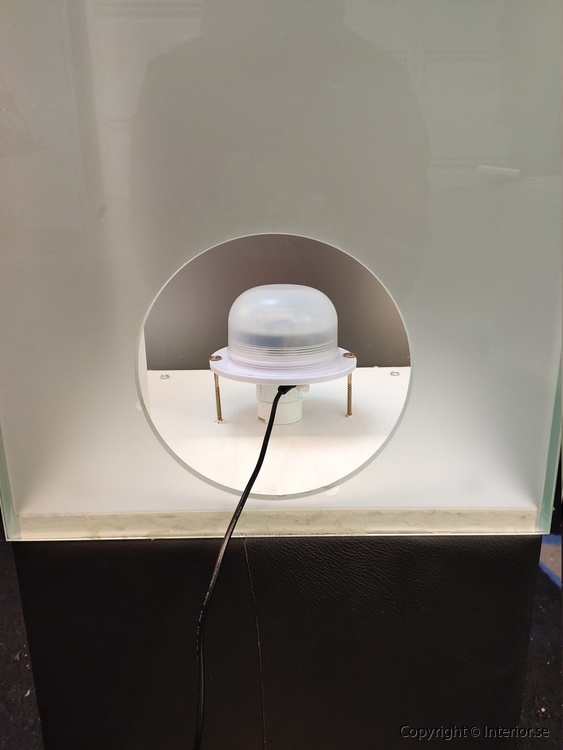 LightBox Ljuslådor i glas med RGB LED - Fjärrkontroll