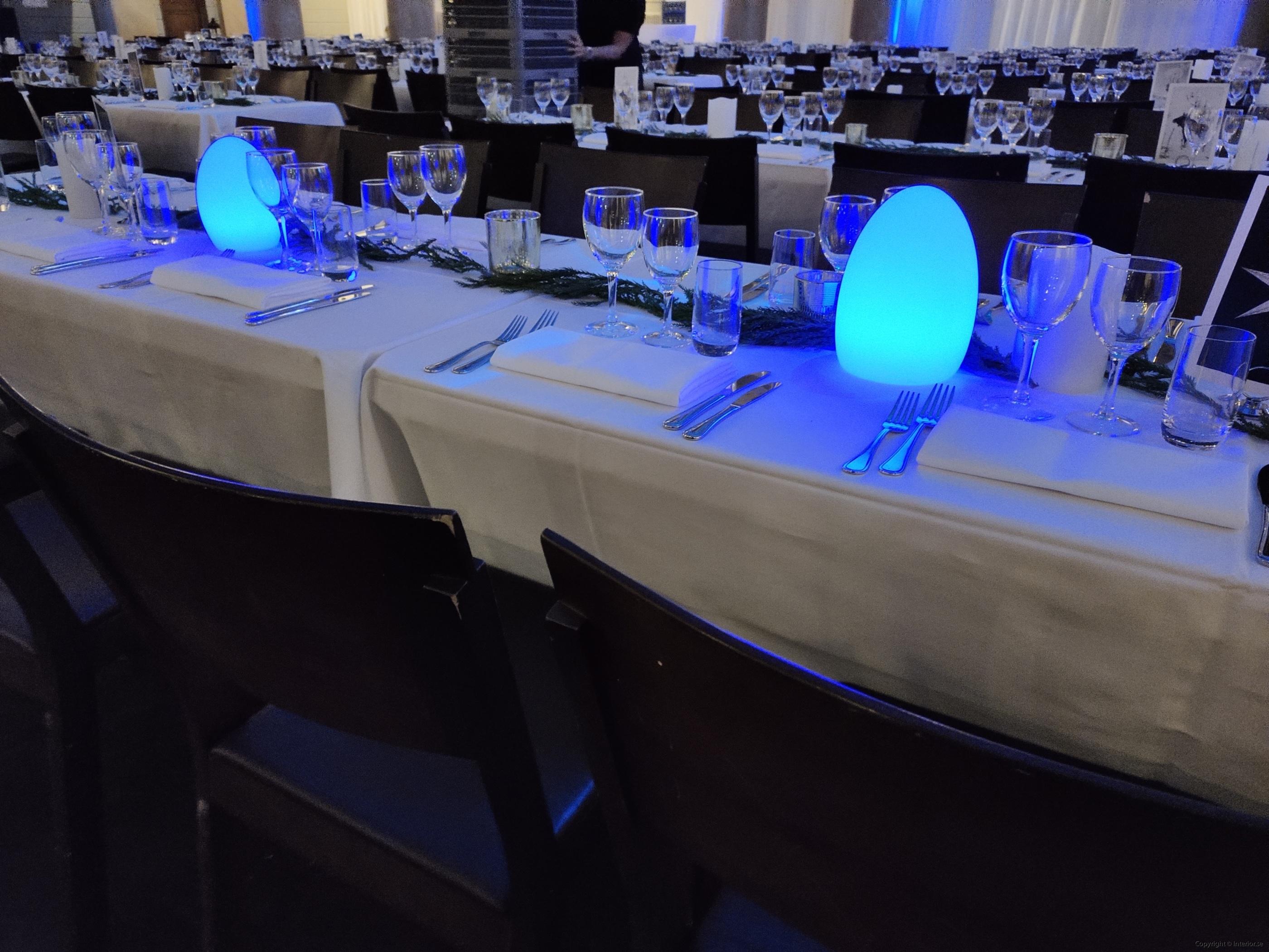 bordslampa LED hyra ljus värmeljus middags lampa event