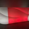 Hyr bardisk, New Wave LED 160 - 320 cm - Uppladdningsbar - Mittendel + 2st hörndelar -