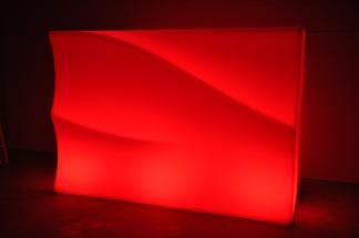 Hyr bardisk, New Wave LED 160 - 320 cm - Uppladdningsbar - Mittendel - 160 cm