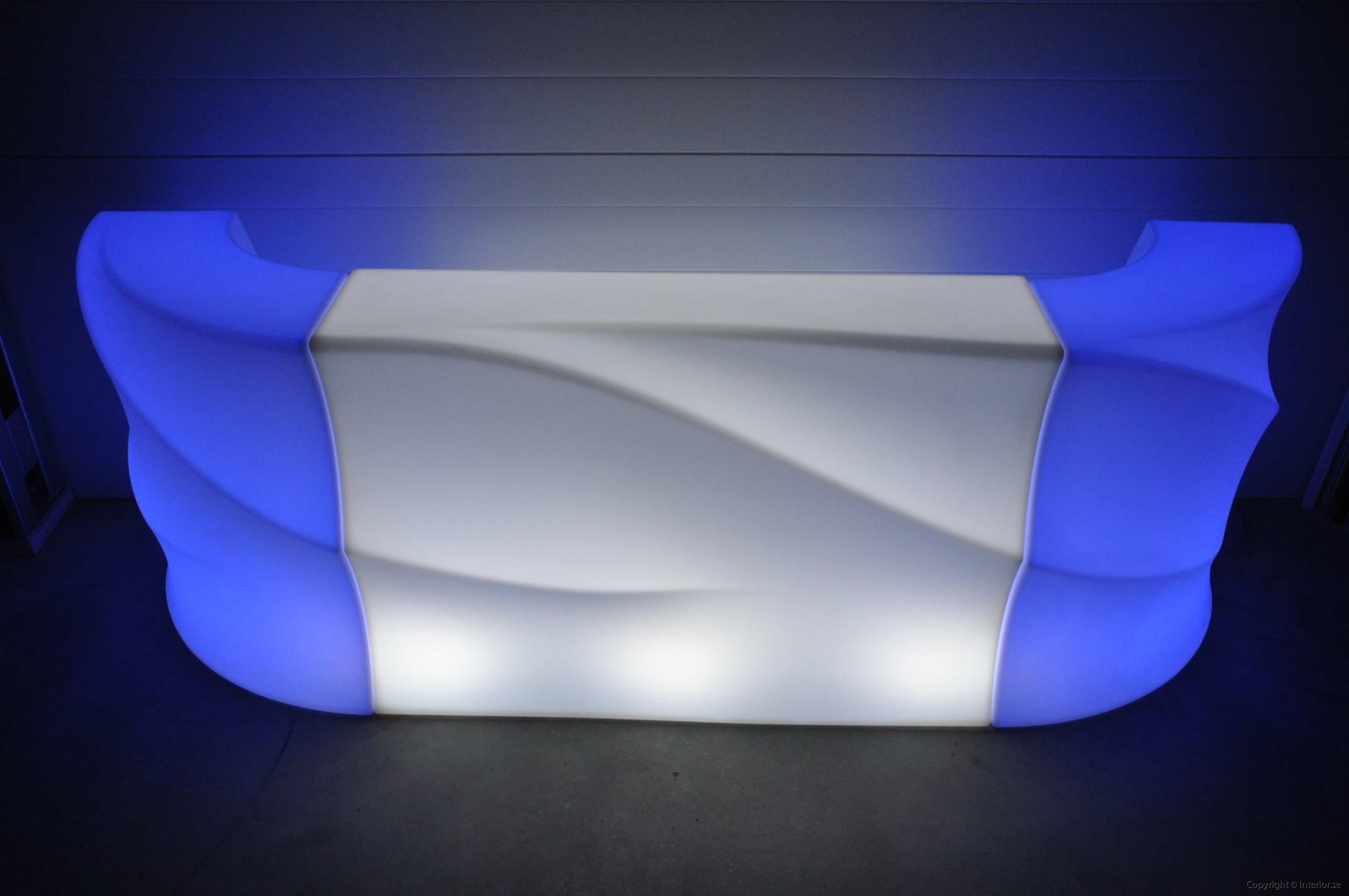 Hyra LED bardisk stockholm, New Wave 320 cm - batteri (12)