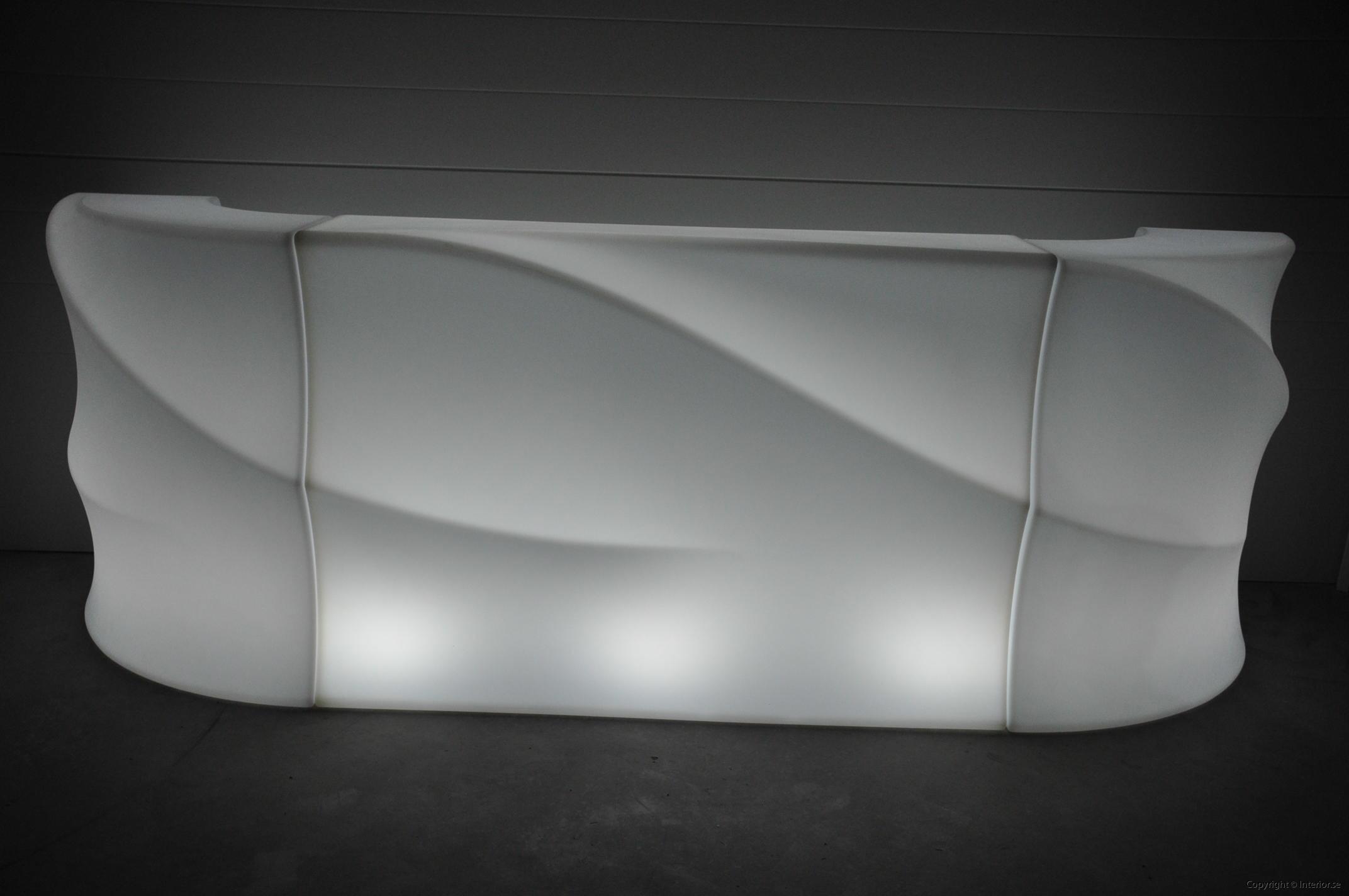 Hyra LED bardisk stockholm, New Wave 320 cm - batteri (16)