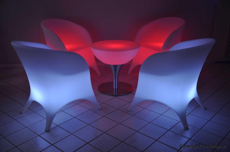 Hyr loungegrupp, 4 fåtöljer & bord - LED Uppladdningsbar stockholm eventmöbler 7
