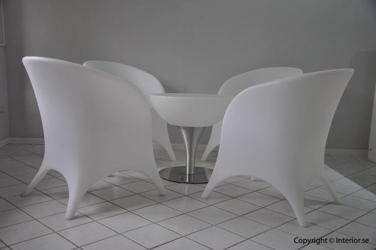 Hyr loungegrupp, 4 fåtöljer & bord - LED Uppladdningsbar stockholm eventmöbler 5