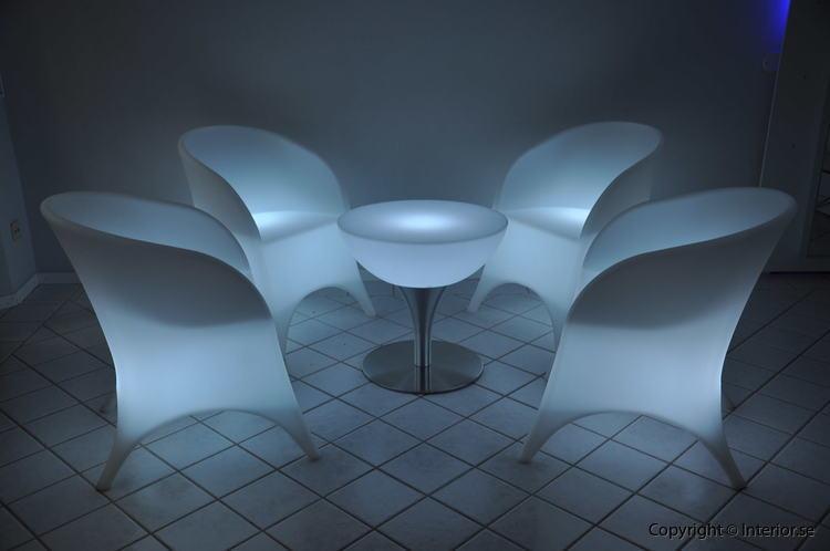 Hyr loungegrupp, 4 fåtöljer & bord - LED Uppladdningsbar stockholm eventmöbler 2