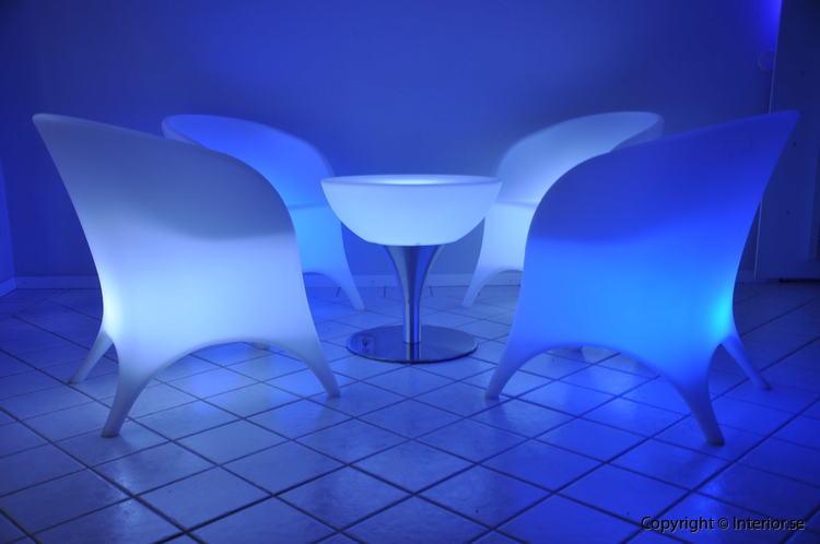 Hyr loungegrupp, 4 fåtöljer & bord - LED Uppladdningsbar stockholm eventmöbler 3