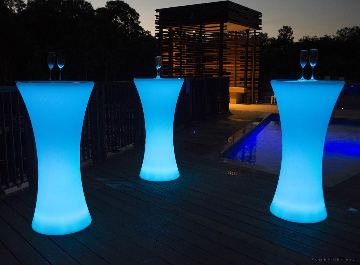 Hyra ståbord barbord strumpa hyr stockholm event - RGB LED Uppladdningsbara