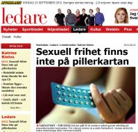 Aftonbladet ledare om p-piller, pearly och vikten av alternativ