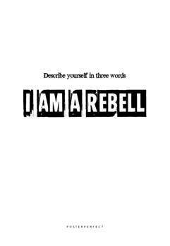 Affisch Describe Yourself - Affisch Describe Yourself - 50x50cm