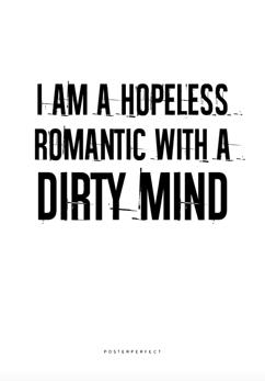 Affisch Hopeless Romantic - Affisch Hopeless Romantic - 50x50cm