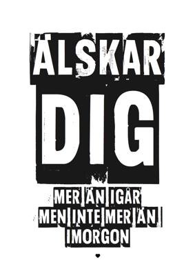 Älskar Dig 01 - Posterperfect