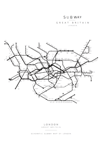 Subway Map of London - Posterperfect