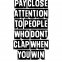 Pay close attention - Posterperfect