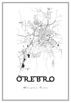 Map Örebro 01 - Posterperfect