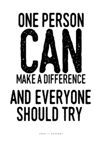 Make a difference - Posterperfect